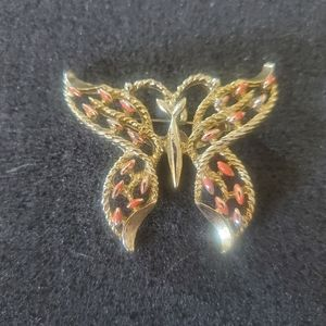 Vintage 70s Sarah coventry Butterfly Pin Brooch